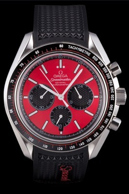Omega Speedmaster Black Rubber Bracelet Red Dial 801421 Omega Speedmaster Replica