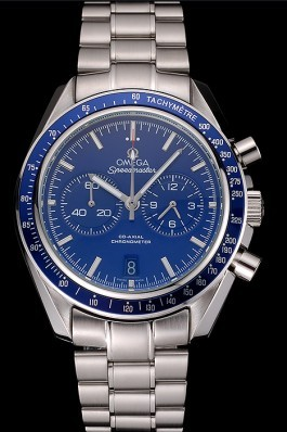Omega Speedmaster Blue Dial Stainless Steel Case And Bracelet 622802 Omega Speedmaster Replica
