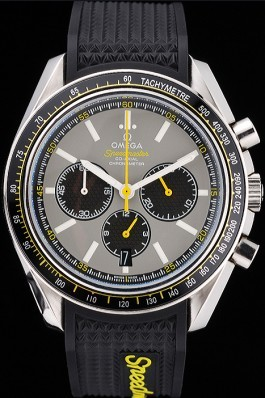 Omega Speedmaster Racing Chronograph Grey Dial Rubber Bracelet 622540 Omega Speedmaster Replica