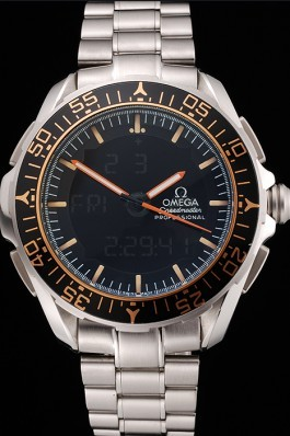 Omega Speedmaster Skywalker X-33 Black Dial Orange On Black Bezel Stainless Steel Case And Bracelet Omega Speedmaster Replica