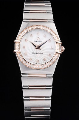 Omega Swiss Constellation Jewelry Diamond Case Radial Emblem White Dial Best Omega Replica