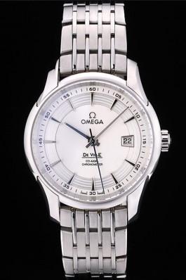 Omega Swiss DeVille Stainless Steel Bezel White Dial 7601 Omega Replica Watch