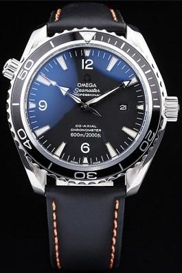 Omega Swiss Seamaster Planet Ocean Black Case Black Dial Omega Replica Seamaster