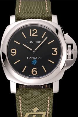 Panerai Luminor Base Logo Acciaio Black Dial Green Bracelet 1454013 Panerai Luminor Replica