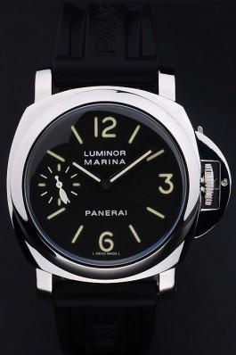 Black Rubber Band Top Quality Black Men's Panerai Luminor Marina Luxury Watch 4769 Panerai Luminor Replica
