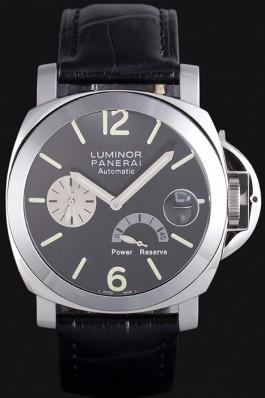Black Leather Band Top Quality Black Panerai Luminor Power Reserve Luxury Watch 4767 Panerai Luminor Replica