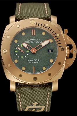 Panerai Luminor Submersible 1950 3 Days Green Dial Green Bracelet 1454014 Panerai Luminor Replica