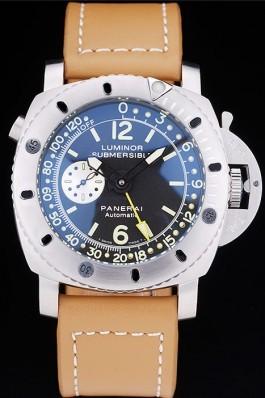 Panerai Luminor Submersible Black Dial Leather Bracelet Panerai Luminor Replica
