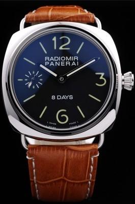 Brown Leather Band Top Quality Men's Leather Luxury Panerai Radiomir Watch 4803 Panerai Replica Watch