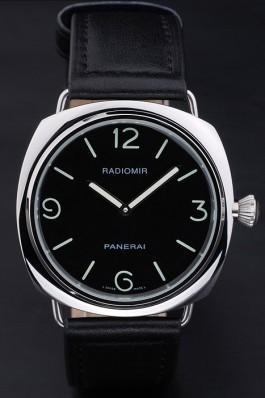 Black Leather Band Top Quality Men's Leather Luxury Panerai Radiomir 4805 Panerai Replica Watch