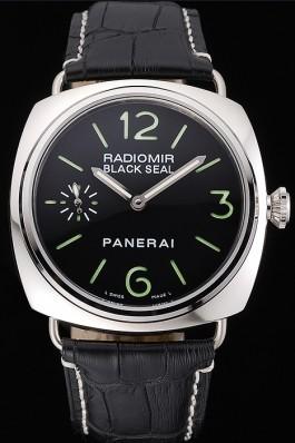 Black Leather Band Top Quality Men's Leather Luxury Panerai Radiomir 4804 Panerai Replica Watch