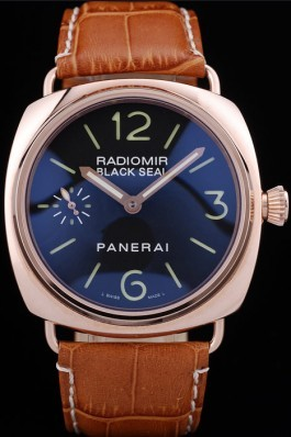 Brown Leather Band Top Quality Brown Panerai Radiomir Luxury Watch 4764 Panerai Replica Watch
