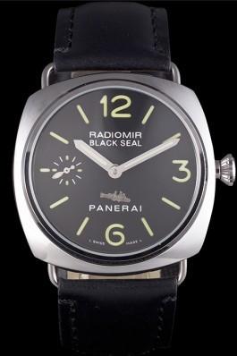 Black Leather Band Top Quality Black Panerai Radiomir Luxury Watch 4762 Panerai Replica Watch