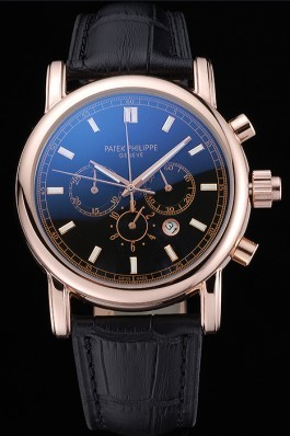 Patek Philippe Grand Complications Perpetual Calendar Black Dial 622263 Fake Patek Philippe
