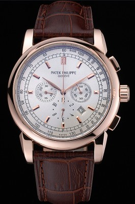 Patek Philippe Grand Complications Perpetual Calendar White Dial White Chronograph 622261 Fake Patek Philippe