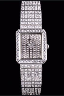 Replica Piaget Swiss Limelight Diamonds Encrusted Stainless Steel Watch 80294
