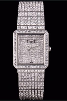 Replica Piaget Swiss Limelight Diamonds Encrusted Stainless Steel Watch 80295