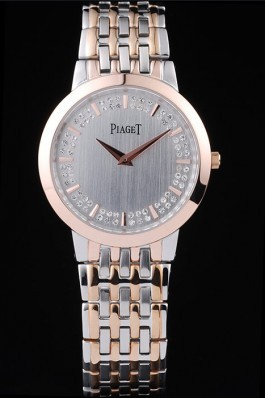 Expensive Watches Top Quality Piaget Traditional Case Double Studded Minute Markers Silver Dial 4918