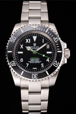 Rolex Bamford Submariner Black Dial With Roman Numerals Black Bezel Stainless Steel Case And Bracelet Rolex Submariner Replica