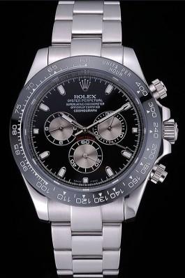 Rolex Cosmograph Daytona Black Dial Stainless Steel Bracelet 622543 Rolex Daytona Replica
