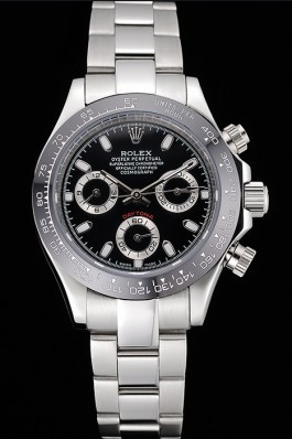 Rolex Cosmograph Daytona Stainless Steel Case Black Silver Subdials Stainless Steel 622635 Rolex Daytona Replica