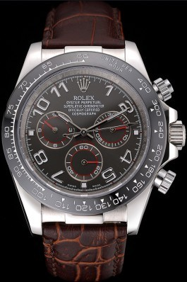 Rolex Cosmograph Daytona Stainless Steel Case Grey Racing Dial Leather Bracelet 622632 Rolex Daytona Replica