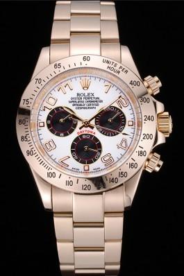 Rolex Cosmograph Daytona White with Black Subdials Gold Bracelet 622548 Rolex Daytona Replica