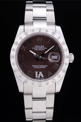 Rolex Datejust Diamond Bezel Brown Dial 7466 Replica Rolex Datejust