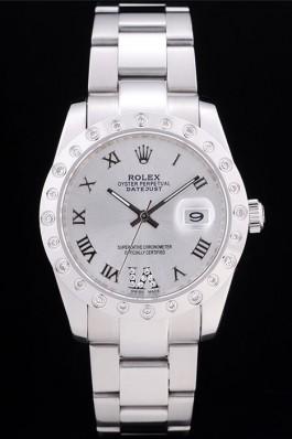Rolex Datejust Diamond Bezel Silver Dial 7468 Replica Rolex Datejust