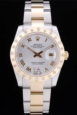 Rolex Datejust Diamond Bezel White Dial 7464 Replica Rolex Datejust