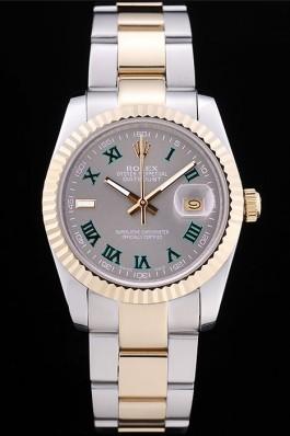 Rolex Datejust Grey Dial Ribbed Bezel 7460 Replica Rolex Datejust