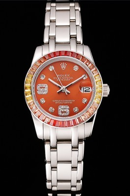Rolex Datejust Pearlmaster 39 Cognac Dial Stainless Steel Case And Bracelet Replica Rolex Datejust