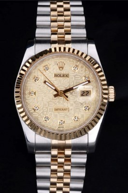Stainless Steel Band Top Quality Rolex Two Toned Luxury Watch 15 5088 Replica Rolex Datejust