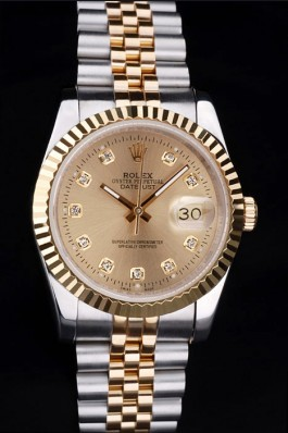 Stainless Steel Band Top Quality Rolex Toned Datejust Luxury Watch 16 5089 Replica Rolex Datejust