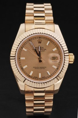 Gold Stainless Steel Band Top Quality Rolex Gold Luxury Watch 210 5129 Replica Rolex Datejust