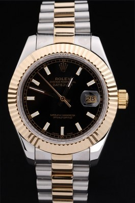 Gold Stainless Steel Band Top Quality Rolex Datejust Luxury Watch 218 5134 Replica Rolex Datejust