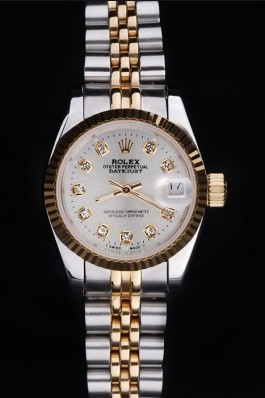 Stainless Steel Band Top Quality Rolex Toned Datejust Luxury Watch 25 5160 Replica Rolex Datejust