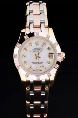 Stainless Steel Band Top Quality Rolex Gold Datejust Luxury Watch 5241 Replica Rolex Datejust