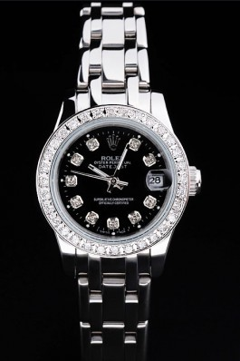 Stainless Steel Band Top Quality Rolex Silver Luxury Watch 5244 Replica Rolex Datejust