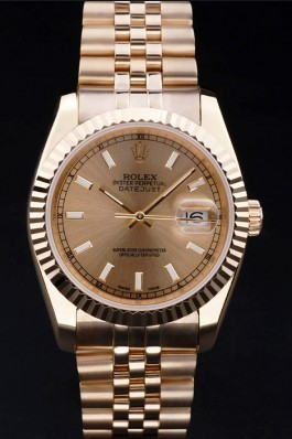 Gold Stainless Steel Band Top Quality Rolex Datejust Luxury Watch 5249 Replica Rolex Datejust