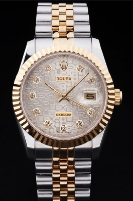 Stainless Steel Band Top Quality Rolex Toned Datejust Luxury Watch 5253 Replica Rolex Datejust