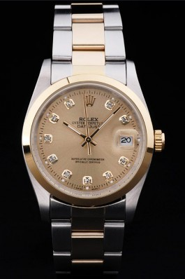 Stainless Steel Band Top Quality Rolex Luxury Two Toned Watch 5254 Replica Rolex Datejust