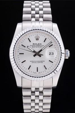 Rolex Datejust Silver Dial Ribbed Bezel 7457 Replica Rolex Datejust