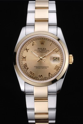 Rolex Datejust Stainless Steel And Gold Case Gold Dial 622265 Replica Rolex Datejust