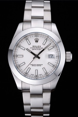 Rolex Datejust Stainless Steel Case White Dial 622266 Replica Rolex Datejust