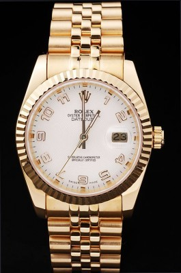 Gold Top Quality Rolex Swiss Mechanism Gold Luxury Watch 5324 Replica Rolex Datejust