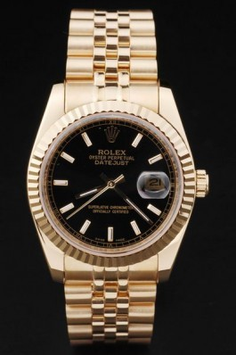 Gold Stainless Steel Band Top Quality Gold Datejust Swiss Mechanism Luxury Watch 5346 Replica Rolex Datejust