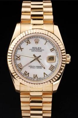 Gold Stainless Steel Band Top Quality Rolex Datejust Swiss Mechanism Luxury Watch 5347 Replica Rolex Datejust
