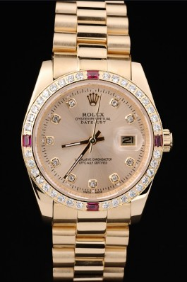Gold Stainless Steel Band Top Quality Rolex Swiss Mechanism Gold Luxury Watch 5348 Replica Rolex Datejust