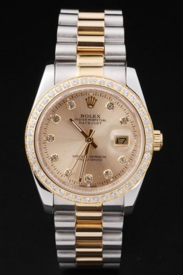 Gold Stainless Steel Band Top Quality Rolex Diamond-Studded Swiss Mechanism Luxury Watch 5350 Replica Rolex Datejust